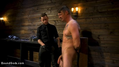 Photo number 2 from Endure The Pain: Straight Stud Dane Stewart Slave Training shot for Bound Gods on Kink.com. Featuring Sebastian Keys and Dane Stewart in hardcore BDSM & Fetish porn.