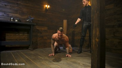 Photo number 4 from Endure The Pain: Straight Stud Dane Stewart Slave Training shot for Bound Gods on Kink.com. Featuring Sebastian Keys and Dane Stewart in hardcore BDSM & Fetish porn.