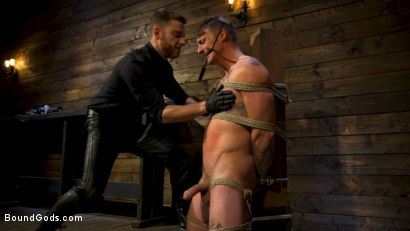 Photo number 7 from Endure The Pain: Straight Stud Dane Stewart Slave Training shot for Bound Gods on Kink.com. Featuring Sebastian Keys and Dane Stewart in hardcore BDSM & Fetish porn.