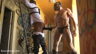 Photo number 9 from Bound For Sodom: Part 2 shot for Bound Gods on Kink.com. Featuring Draven Navarro and Pierce Paris in hardcore BDSM & Fetish porn.