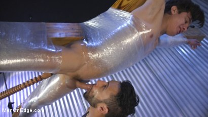 Photo number 26 from Muscle Twink Josh Hunter Edged in Captivity  shot for Men On Edge on Kink.com. Featuring Josh Hunter in hardcore BDSM & Fetish porn.