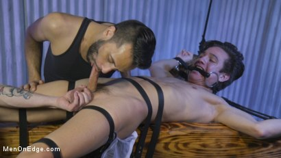 Photo number 6 from Muscle Twink Josh Hunter Edged in Captivity  shot for Men On Edge on Kink.com. Featuring Josh Hunter in hardcore BDSM & Fetish porn.