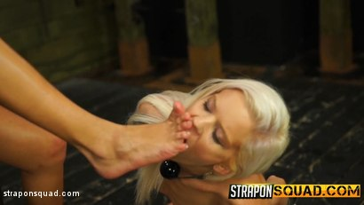 Photo number 4 from Halle Von Loves Lesbian Domination & Foot Worship with Marina Angel shot for Strapon Squad on Kink.com. Featuring Halle Von and Marina Angel in hardcore BDSM & Fetish porn.