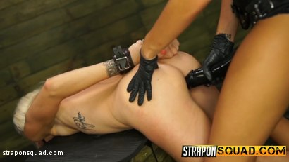 Photo number 7 from Halle Von Loves Lesbian Domination & Foot Worship with Marina Angel shot for Strapon Squad on Kink.com. Featuring Halle Von and Marina Angel in hardcore BDSM & Fetish porn.