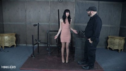 Photo number 2 from Sitting Pretty shot for Infernal Restraints on Kink.com. Featuring Charlotte Sartre in hardcore BDSM & Fetish porn.