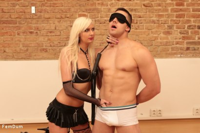 Photo number 4 from Blonde and Skinny shot for FemDum on Kink.com. Featuring Jay and Priscilla in hardcore BDSM & Fetish porn.