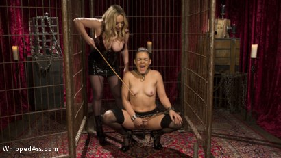 Photo number 15 from Aiden Starr's Classic Lezdom Dungeon with Kimber Woods  shot for Whipped Ass on Kink.com. Featuring Aiden Starr and Kimber Woods in hardcore BDSM & Fetish porn.