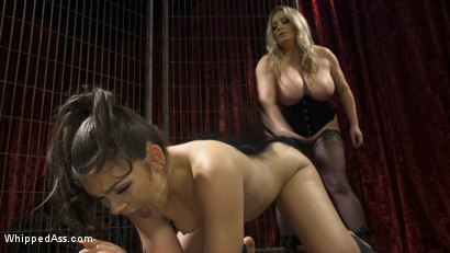 Photo number 4 from Aiden Starr's Classic Lezdom Dungeon with Kimber Woods  shot for Whipped Ass on Kink.com. Featuring Aiden Starr and Kimber Woods in hardcore BDSM & Fetish porn.