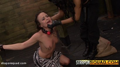 Photo number 11 from Brooklyn Daniels is Up for Slave Training with Mila Blaze & Lexy Villa shot for Strapon Squad on Kink.com. Featuring Brooklyn Daniels in hardcore BDSM & Fetish porn.