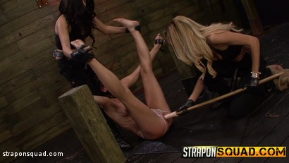Photo number 15 from Brooklyn Daniels is Up for Slave Training with Mila Blaze & Lexy Villa shot for Strapon Squad on Kink.com. Featuring Brooklyn Daniels in hardcore BDSM & Fetish porn.