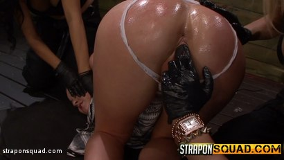 Photo number 6 from Brooklyn Daniels is Up for Slave Training with Mila Blaze & Lexy Villa shot for Strapon Squad on Kink.com. Featuring Brooklyn Daniels in hardcore BDSM & Fetish porn.