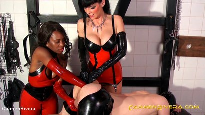 Photo number 11 from Das Schleimloch: Chapter One shot for Carmen Rivera on Kink.com. Featuring Carmen Rivera, Lady Sahara and Arsch Krater in hardcore BDSM & Fetish porn.