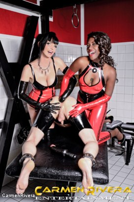 Photo number 19 from Das Schleimloch: Chapter One shot for Carmen Rivera on Kink.com. Featuring Carmen Rivera, Lady Sahara and Arsch Krater in hardcore BDSM & Fetish porn.