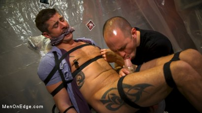 Photo number 5 from Converted Ex-Gay Edged to Cock-Loving Confession! shot for Men On Edge on Kink.com. Featuring Sean Maygers in hardcore BDSM & Fetish porn.