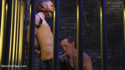 Photo number 10 from Director Sebastian Keys gets edged!  shot for Men On Edge on Kink.com. Featuring Sebastian Keys in hardcore BDSM & Fetish porn.