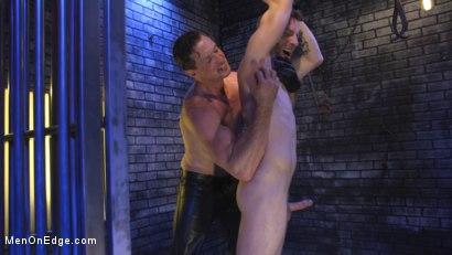 Photo number 9 from Director Sebastian Keys gets edged!  shot for Men On Edge on Kink.com. Featuring Sebastian Keys in hardcore BDSM & Fetish porn.