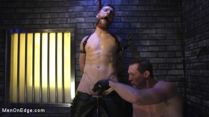 Photo number 6 from Director Sebastian Keys gets edged!  shot for Men On Edge on Kink.com. Featuring Sebastian Keys in hardcore BDSM & Fetish porn.
