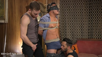 Photo number 2 from Cesar Xes Gets His Huge Cock Sucked And Edged shot for Men On Edge on Kink.com. Featuring Cesar Xes in hardcore BDSM & Fetish porn.