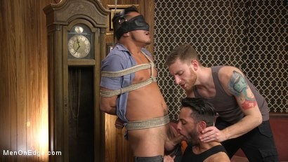 Photo number 18 from Cesar Xes Gets His Huge Cock Sucked And Edged shot for Men On Edge on Kink.com. Featuring Cesar Xes in hardcore BDSM & Fetish porn.