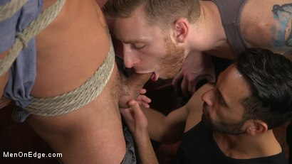 Photo number 3 from Cesar Xes Gets His Huge Cock Sucked And Edged shot for Men On Edge on Kink.com. Featuring Cesar Xes in hardcore BDSM & Fetish porn.