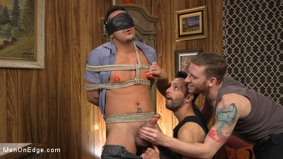 Photo number 4 from Cesar Xes Gets His Huge Cock Sucked And Edged shot for Men On Edge on Kink.com. Featuring Cesar Xes in hardcore BDSM & Fetish porn.