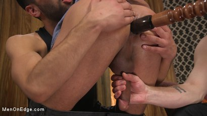 Photo number 9 from Cesar Xes Gets His Huge Cock Sucked And Edged shot for Men On Edge on Kink.com. Featuring Cesar Xes in hardcore BDSM & Fetish porn.