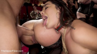Photo number 6 from Anal Submissive Sluts Ravaged & Squirting at Holiday Winter Orgy shot for The Upper Floor on Kink.com. Featuring Aiden Starr, Ramon Nomar, Karlee Grey and Vanessa Sky in hardcore BDSM & Fetish porn.