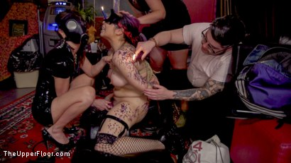 Photo number 10 from Sexy Anal Submissive's Serve BDSM Swingers' Ball shot for The Upper Floor on Kink.com. Featuring Aiden Starr, Ramon Nomar, Karlee Grey and Vanessa Sky in hardcore BDSM & Fetish porn.