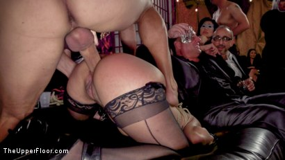 Photo number 5 from Sexy Anal Submissive's Serve BDSM Swingers' Ball shot for The Upper Floor on Kink.com. Featuring Aiden Starr, Ramon Nomar, Karlee Grey and Vanessa Sky in hardcore BDSM & Fetish porn.