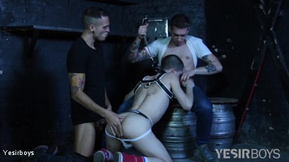 Photo number 7 from Double Trouble shot for Yesirboys on Kink.com. Featuring Master Aaron, Alex Roman and Leo Bunny in hardcore BDSM & Fetish porn.