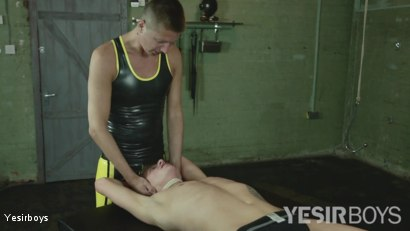 Photo number 1 from Twink Torment shot for Yesirboys on Kink.com. Featuring Casper Ellis and Sean Spicer in hardcore BDSM & Fetish porn.