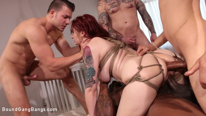 Photo number 8 from Violet Monroe Takes A Temp Job Getting Stuffed Airtight shot for Bound Gang Bangs on Kink.com. Featuring Violet Monroe, Codey Steele , Rob Piper, Eddie Jaye, Donny Sins and Cyrus King in hardcore BDSM & Fetish porn.