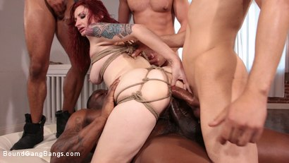 Photo number 7 from Violet Monroe Takes A Temp Job Getting Stuffed Airtight shot for Bound Gang Bangs on Kink.com. Featuring Violet Monroe, Cody Steele , Rob Piper, Eddie Jaye, Donny Sins and Cyrus King in hardcore BDSM & Fetish porn.