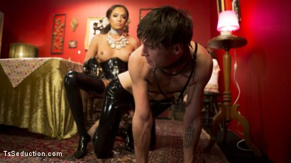 Photo number 28 from Kinky Tea Party: Jessica Fox and Tony Orlando shot for TS Seduction on Kink.com. Featuring Jessica Fox and Tony Orlando in hardcore BDSM & Fetish porn.
