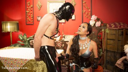 Photo number 7 from Kinky Tea Party: Jessica Fox and Tony Orlando shot for TS Seduction on Kink.com. Featuring Jessica Fox and Tony Orlando in hardcore BDSM & Fetish porn.