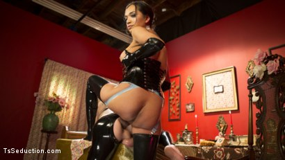 Photo number 16 from Kinky Tea Party with Jessica Fox shot for TS Seduction on Kink.com. Featuring Jessica Fox and Tony Orlando in hardcore BDSM & Fetish porn.