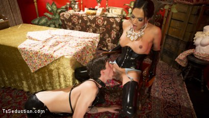 Photo number 24 from Kinky Tea Party with Jessica Fox shot for TS Seduction on Kink.com. Featuring Jessica Fox and Tony Orlando in hardcore BDSM & Fetish porn.