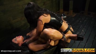 Photo number 9 from Lesbian Domination & Fucking Machine Fun with Alexa Pierce & Esmi Lee shot for Strapon Squad on Kink.com. Featuring Alexa Pierce and Esmi Lee in hardcore BDSM & Fetish porn.