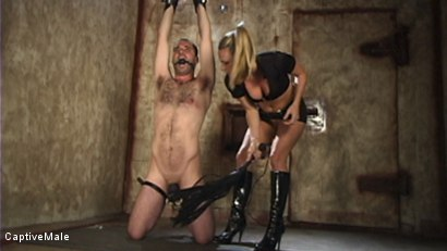 Photo number 2 from Harmony Evaluates Oscar Beyer with Brutal Cock Torment shot for Captive Male on Kink.com. Featuring Harmony and Oscar Beyer in hardcore BDSM & Fetish porn.