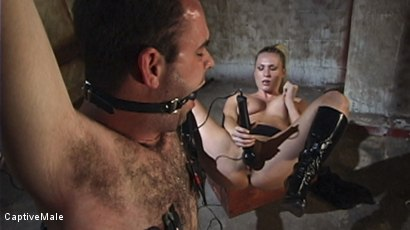 Photo number 6 from Harmony Evaluates Oscar Beyer with Brutal Cock Torment shot for Captive Male on Kink.com. Featuring Harmony and Oscar Beyer in hardcore BDSM & Fetish porn.