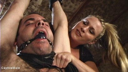 Photo number 3 from Harmony Evaluates Oscar Beyer with Brutal Cock Torment shot for Captive Male on Kink.com. Featuring Harmony and Oscar Beyer in hardcore BDSM & Fetish porn.