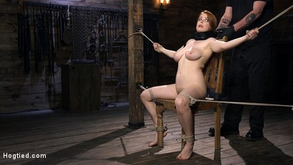 Photo number 1 from Red Headed Slut is Bound, Tormented, Double Penetrated and Made to Cum shot for Hogtied on Kink.com. Featuring Penny Pax in hardcore BDSM & Fetish porn.