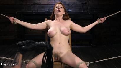 Photo number 2 from Red Headed Slut is Bound, Tormented, Double Penetrated and Made to Cum shot for Hogtied on Kink.com. Featuring Penny Pax in hardcore BDSM & Fetish porn.