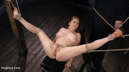 Photo number 11 from Red Headed Slut is Bound, Tormented, Double Penetrated and Made to Cum shot for Hogtied on Kink.com. Featuring Penny Pax in hardcore BDSM & Fetish porn.