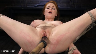 Photo number 12 from Red Headed Slut is Bound, Tormented, Double Penetrated and Made to Cum shot for Hogtied on Kink.com. Featuring Penny Pax in hardcore BDSM & Fetish porn.