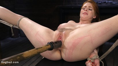 Photo number 13 from Red Headed Slut is Bound, Tormented, Double Penetrated and Made to Cum shot for Hogtied on Kink.com. Featuring Penny Pax in hardcore BDSM & Fetish porn.
