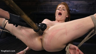 Photo number 14 from Red Headed Slut is Bound, Tormented, Double Penetrated and Made to Cum shot for Hogtied on Kink.com. Featuring Penny Pax in hardcore BDSM & Fetish porn.