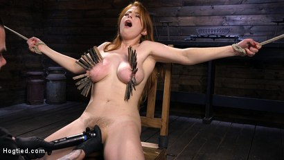 Photo number 4 from Red Headed Slut is Bound, Tormented, Double Penetrated and Made to Cum shot for Hogtied on Kink.com. Featuring Penny Pax in hardcore BDSM & Fetish porn.