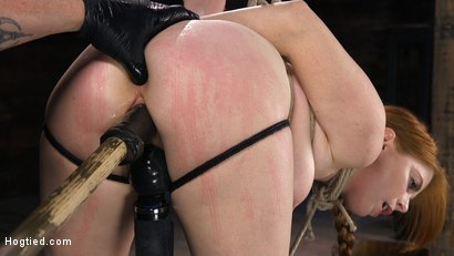 Photo number 6 from Red Headed Slut is Bound, Tormented, Double Penetrated and Made to Cum shot for Hogtied on Kink.com. Featuring Penny Pax in hardcore BDSM & Fetish porn.