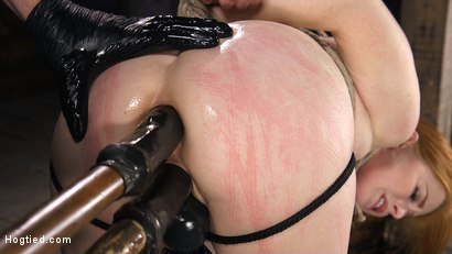 Photo number 7 from Red Headed Slut is Bound, Tormented, Double Penetrated and Made to Cum shot for Hogtied on Kink.com. Featuring Penny Pax in hardcore BDSM & Fetish porn.
